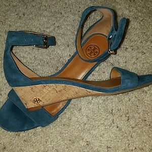 Tory Burch Shoes - Tory Burch blue sandals size 7 1/2 excellent cond