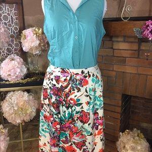 Lands' End Dresses & Skirts - Lands End skirt and Covington shirt