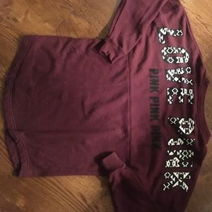 Maroon aztec pullover