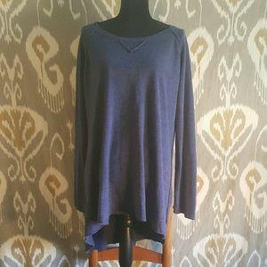 Sweet Romeo Sweaters - Blue High Low Sweater