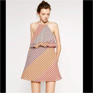 Zara Multicolor Checkered Dress