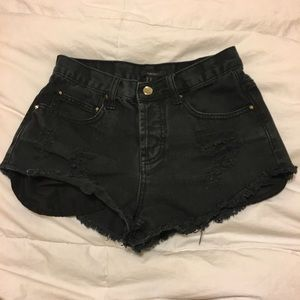 F21 high waisted shorts