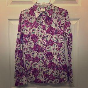 Paul & Joe Tops - NWOT Paul & Joe Floral Shadow Stripe Cotton Shirt