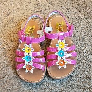 Rachel Other - Rachel Shoes Adorable Pink Strappy Flower Sandals