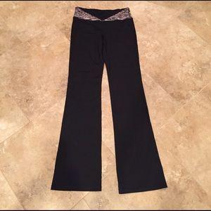 "CAbi Flared Black Athletic Yoga Pants 34"" Inseam"