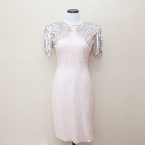 Scala Dresses & Skirts - Vintage Scala blush beaded dress