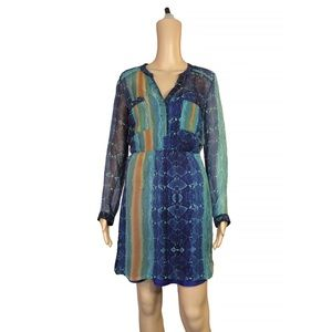 charlie jade Dresses & Skirts - 100% silk Charlie Jade printed chiffon dress