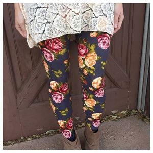 Infinity Raine Pants - NEW Spring Charcoal Floral Leggings