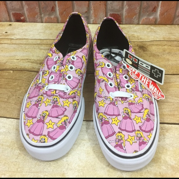 654ce1dd832e9f Vans x Nintendo Princess Peach Classic Lace Up NEW