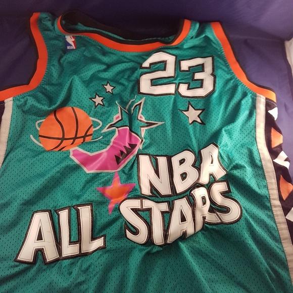 buy online f627e af5d4 MJ throwback NBA all stars jersey