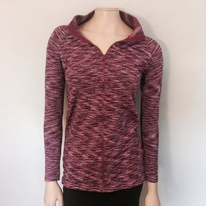 Jackets & Blazers - Pink Spandex Zip Up Workout Jacket