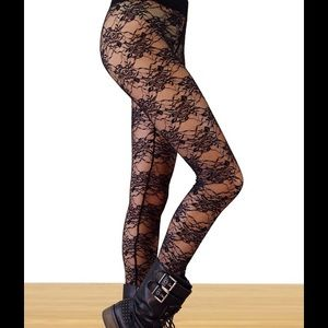 boutique Pants - LACE LEGGINGS -BLACK