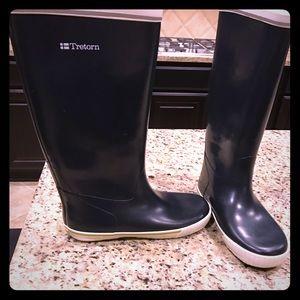 Tretorn Shoes - Tretorn Skerry Navy Blue Rain Boots 8