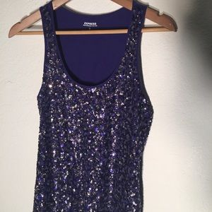 Express Dream Weight Cotton Sequin Tank Top