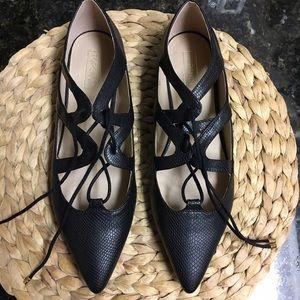 Topshop Shoes - Topshop snakeskin flats BNWOT