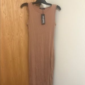 Boohoo Camel Sundress