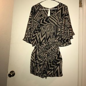 Guess Flirty and fun abstract print silky Romper