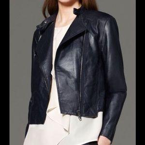 💕 3.1 PHILLIP LIM navy blue leather jacket NEW