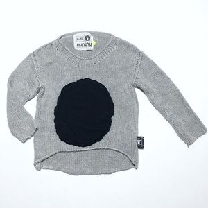 nununu Other - Nununu Gray Black Dot Slouchy Asymmetrical Sweater