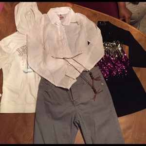 4 pc Girls Size 10/12 Assorted Outfit Bundle - G10