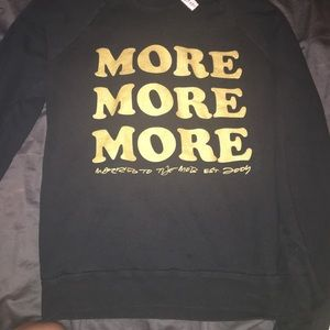 married to the mob Other - Black sweatshirt, gold letters, pullover