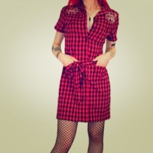 eda0c91d902 Sourpuss Clothing Dresses - Sourpuss hot pink plaid