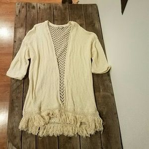 Eyeshadow Sweaters - Eyeshadow Cream Cardigan