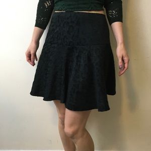 Free People Dresses & Skirts - Free People Black Leopard Print Velvety Skirt