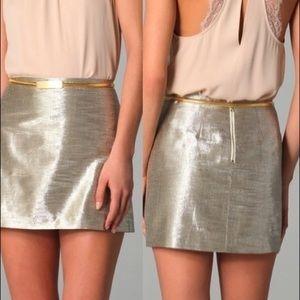 Alice + Olivia Dresses & Skirts - Alice + Olivia metallic gold Myra Mini skirt