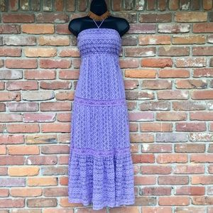 Lilac Lace Maxi Dress by Flying Tomato 