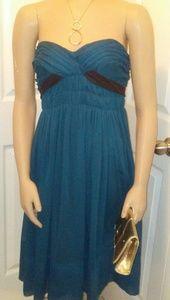 ABS Allen Schwartz Dresses & Skirts - Teal and brown cocktail dress