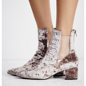 Free People Shoes - Free People by Jeffrey Campbell Velvet Boots.
