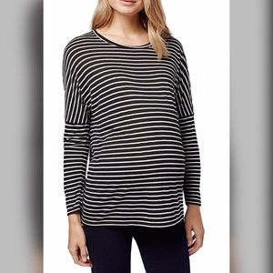 Topshop MATERNITY Tops - Topshop Long Sleeve Stripe Maternity Top US10