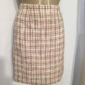 Grace Elements Dresses & Skirts - Grace Elements Tan & Brown Plaid Skirt 6 6P