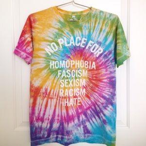 Tops - Tie-dye Social Advocacy T-shirt