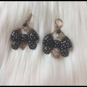 Betsey Johnson Jewelry - Vintage Betsey Johnson Bow Earrings