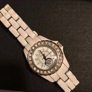 Geneva Platinum Accessories - Beautiful white watch geneva platinum collection