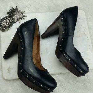 Seychelles Shoes - Seychelles hammered nail black heels sz 8.5