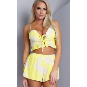 Want my look Pants - NWT Bustier short set