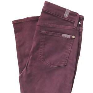 7 For All Mankind Pants - 7 For All Mankind Burgundy Pants