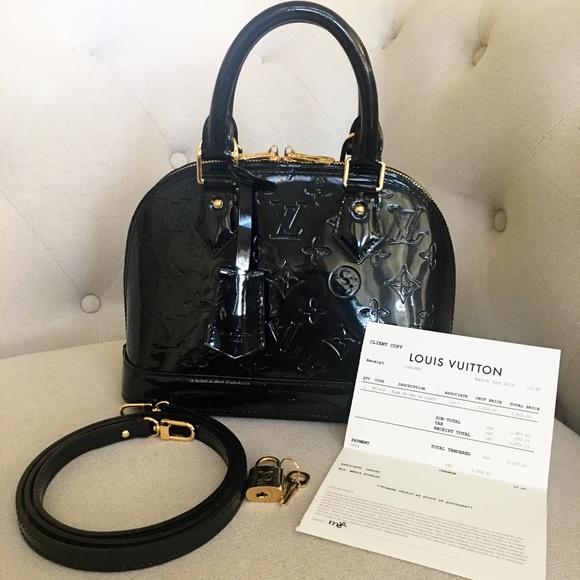 3cb5b9d04c24 Louis Vuitton Handbags - Authentic Louis Vuitton Alma BB Vernis Black