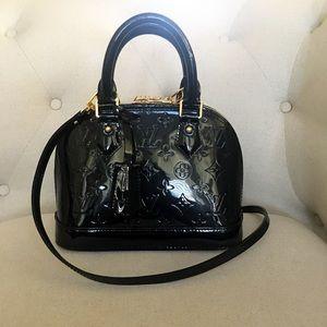 e97fbd18595c Louis Vuitton Bags - Authentic Louis Vuitton Alma BB Vernis Black