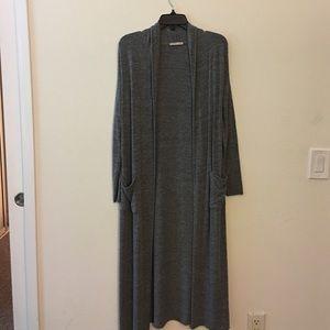 Zara long grey cardigan