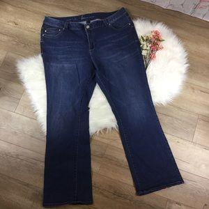 Lane Bryant Denim - Slim boot cut genus fit blue denim jeans