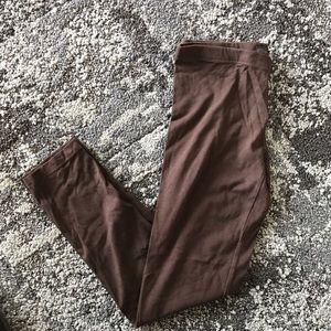 🔴3/$10 Forever 21 Brown Midcalf Leggings