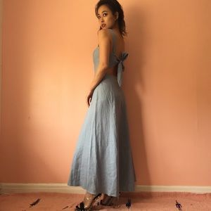 Reformation Dresses & Skirts - Reformation Chambray Linen Ankle Dress