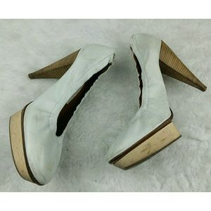 Lanvin Shoes - Lanvin 2008 white wood heels leather 38