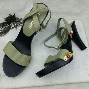Colin Stuart Shoes - Colin Stuart heeled Sandle flowers ankle strap 8.5
