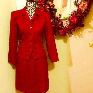 Sag Harbor Dresses & Skirts - ⚡️FLASH SALE⚡️Burgundy Sag Harbor Blazer Skirt Set