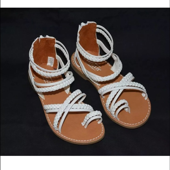 7ef865c2303a Kids Girls Sandals White Size 11 Toddler. M 58d2300b5a49d054a901f793